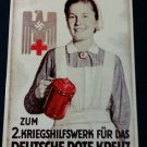 WWII WW2 Nazi German DRK Red Cross Nurse WHW donation can Metal sign
