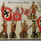WWII WW2 Nazi German SA Brown shirts tin toys Metal sign