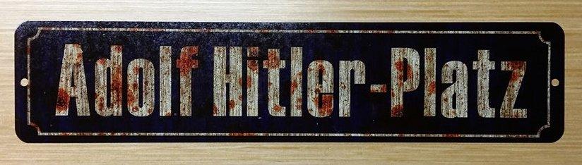 WWII WW2 Nazi German Adolf Hitler platz  street sign Road