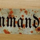 WWII WW2 SS KOMMANDANT Barracks  Nazi German metal sign