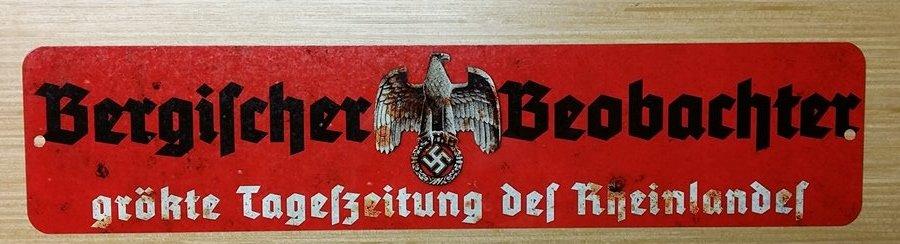 WWII WW2  Nazi German NSDAP Propaganda eagle swastika metal sign