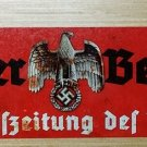 WWII WW2  Nazi German NSDAP Propaganda eagle swastika metal sign