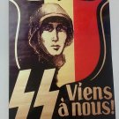 WWII WW2 Nazi German SS Wallonie  NSDAP Propaganda Metal sign