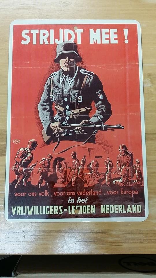 WWII WW2 Nazi German Steel Helmet soldier NSDAP Propaganda Metal sign