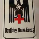 WWII WW2 Nazi German DRK Red Cross eagle Propaganda Metal sign