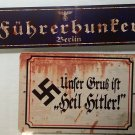 X 2 WWII WW2 Nazi German Adolf Hitler NSDAP  propaganda Metal signs