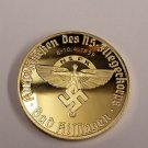 WWII WW2 Nazi German NSFK Fliegerkorps swastika 24K gold medal coin medallion