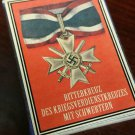 WWII Nazi German War Merit cross neck  medal 1939 Vintage matchbox