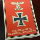 WWII Nazi German Iron cross w spange medal 1939 Vintage matchbox