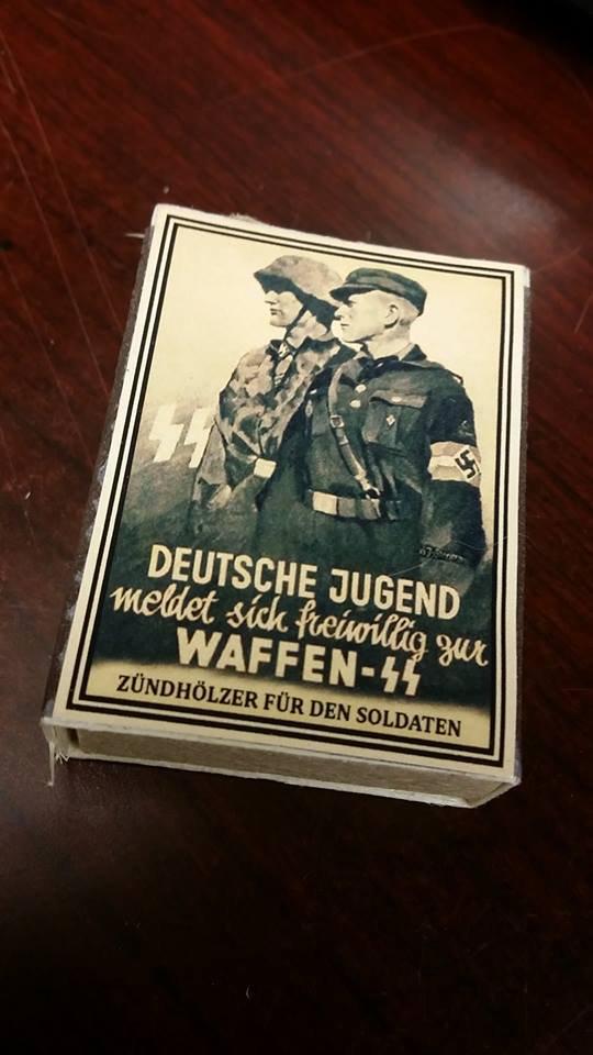 WWII Nazi German DJ HJ Waffen SS Hitler Youth Vintage matchbox