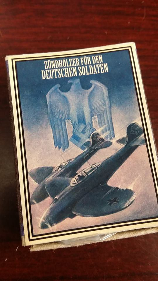 WWII Nazi German Luftwaffe air strike Vintage matchbox