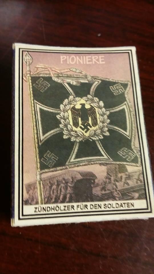 WWII Nazi German Luftwaffe Standarte Flag Pioniere Vintage matchbox