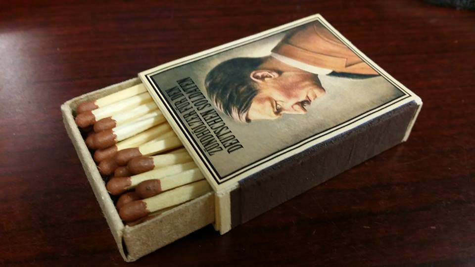 WWII Nazi German Adolf Hitler The Fuhrer Vintage matchbox