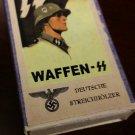 WWII Nazi German Waffen SS Steel helmet soldier  Vintage matchbox