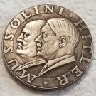 WWII WW2 Nazi German Mussolini Hitler coin