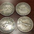 WWII WW2 Nazi German Adolf Hitler Luftwaffe coin lot x 4