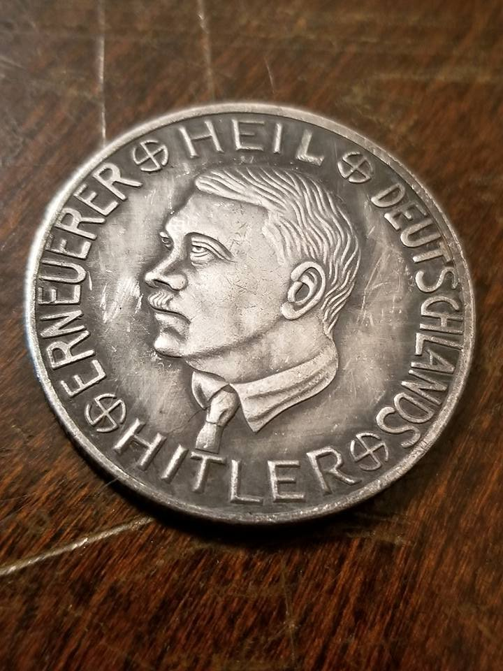 WWII WW2 Nazi German Adolf Hitler  coin