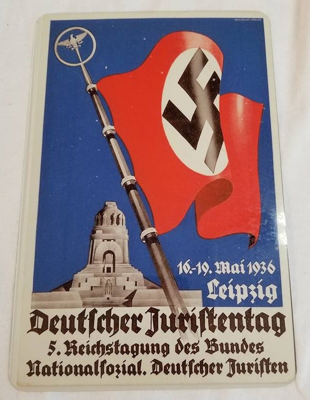 WWII WW2 Nazi German Flag Propaganda Metal sign