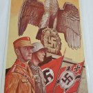 WWII WW2 Nazi German SA Steel Helmet soldier Propaganda Metal sign