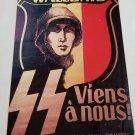 WWII WW2 Nazi German SS Badge Propaganda Metal sign