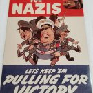 WWII WW2 Nazi German Nazis Cartoon Battle Propaganda Metal sign