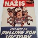 WWII WW2 Nazi German Nazis Cartoon Battle Propaganda Metal sign