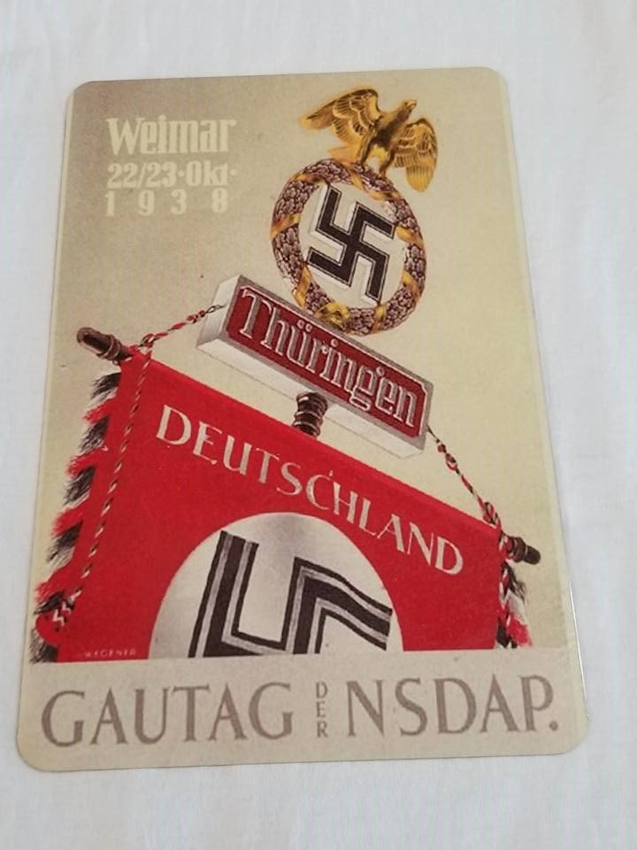 WWII WW2 Nazi German Flag Battle Propaganda Metal sign