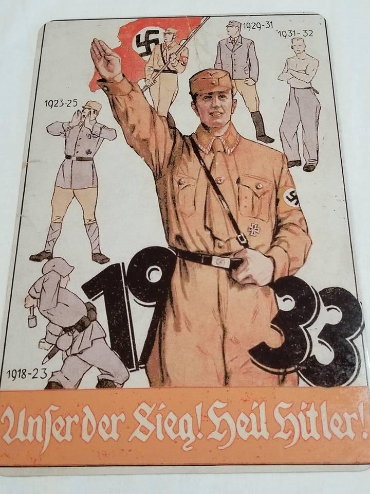 WWII WW2 Nazi German 1933 Soilder Battle Propaganda Metal sign