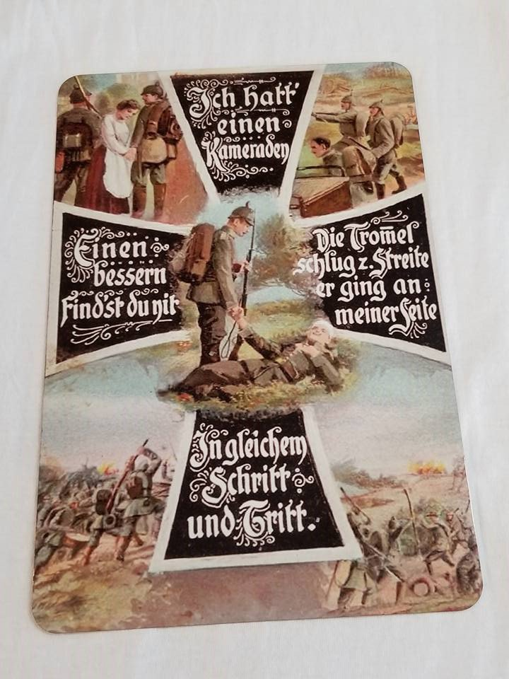 WWII WW2 Nazi German SS Waffen Battle Propaganda Metal sign