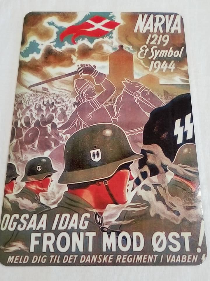 WWII WW2 Nazi German Flag Army Fight Propaganda Metal sign