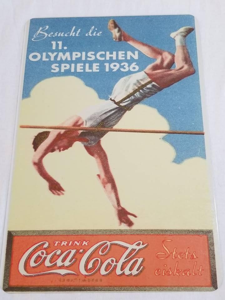 WWII WW2 Nazi German Olimpics Propaganda Metal sign