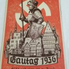WWII WW2 Nazi German Waffen SS 1936 Propaganda Metal sign