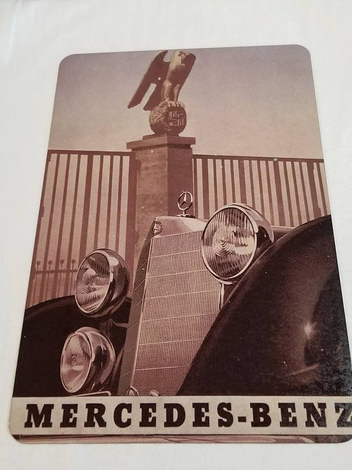 WWII WW2 Nazi German Mercedes Benz Propaganda Metal sign