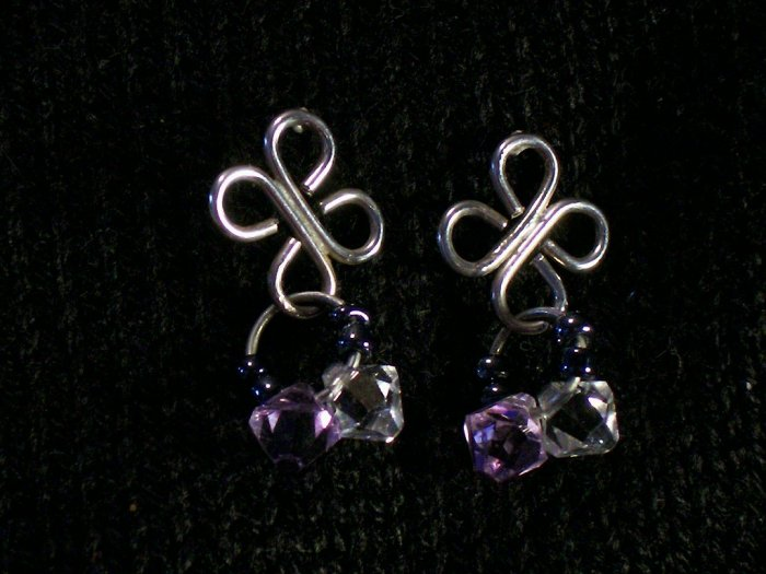Shamrock Style Swarovski Beaded Earrings