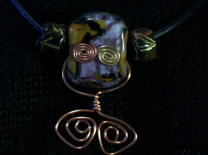 Lampworked Fun Alien Glass Necklace Choker