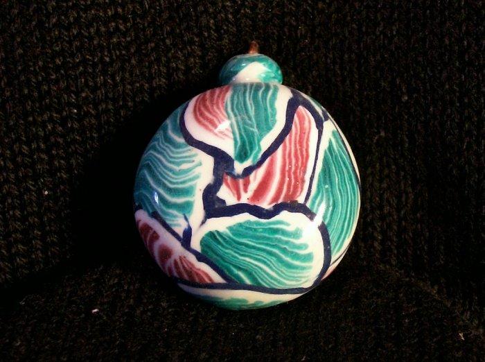 Mokume Gane Polymer clay Pendant