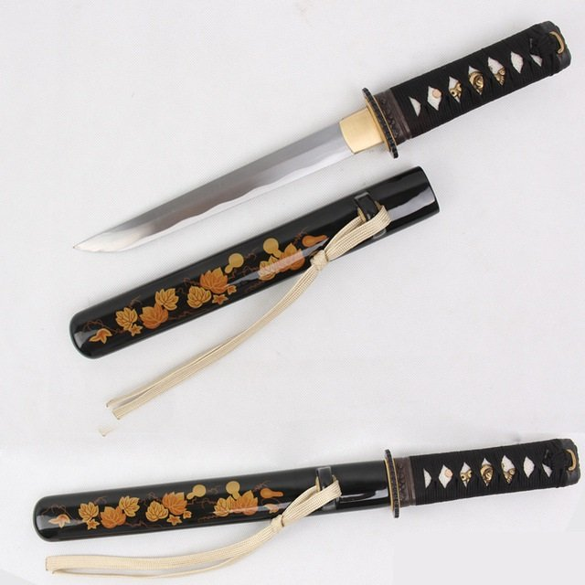 Japanese Short Sword Wakizashi Tanto Handmade Carbon Steel Sharp - Free Shipping