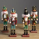 Vintage Wooden Nutcracker Doll Soldiers Doll Handcraft Decorative Ornaments Gift Home Decor
