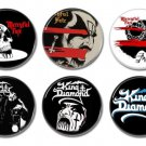 King Diamond and Mercyful Fate badges/buttons set of 6 (25mm, 1inch)