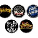 New Wave Of Traditional Heavy Metal buttons/badges set of 5!