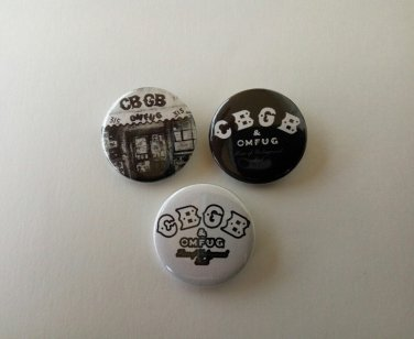 CBGB & OMFUG buttons/badges set of 3!