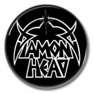 DIAMOND HEAD band button! (1inch, 25mm, badges,pins,heavy metal)