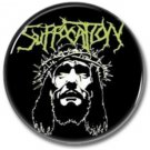 SUFFOCATION band button! (25mm, badges, pins, heavy metal, death metal)