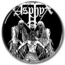 ASPHYX band button! (25mm, badges, pins, heavy metal, death metal)