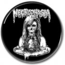 NECROPHAGIA band button! (25mm, badges, pins, heavy metal, death metal)