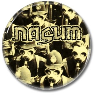NASUM button! (25mm, badges, pins,grindcore, heavy metal)