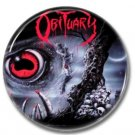 OBITUARY 'CAUSE OF DEATH' band button! (25mm, badges, pins, heavy metal, death metal)