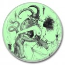 Occult Devil button (1inch, 25mm, badges, pins, horror)