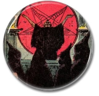 Occult Ceremony button (1inch, 25mm, badges, pins, horror)