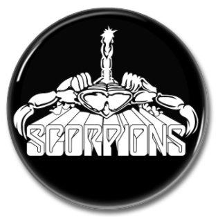 SCORPIONS button! (25mm, badges, pins, sleaze, hair metal, heavy metal)